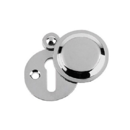 Door Escutcheon & Cover - Victorian - Chrome Plated - (VBC15P)