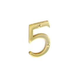 Door Number 5 - Georgian Brass - (045461N)