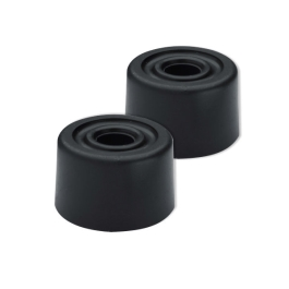 Rubber Door Stops 35mm - Black - (Pack of 2) - (005618N)