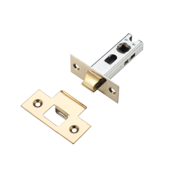 Mortice Latch 64mm - Tubular - Brass Plated - (040251N)