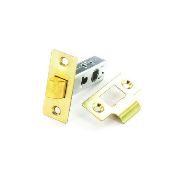 Securit - Rebated Mortice Latch 63mm - Brass  Plated - (S1941)