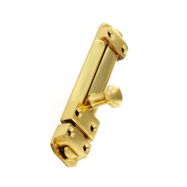Slide Door Bolt 100mm - Brass