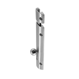 Sliding Convex Door Bolt 102mm - Satin Nickel
