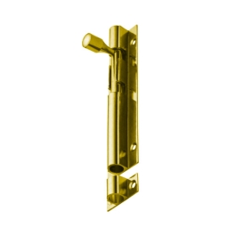 Door Bolt 100mm - Polished Brass - (003805N)
