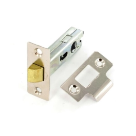 Mortice Latch 75mm - Tubular - Nickel Plated - (040282N)
