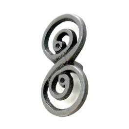 Cabinet Knob - Swirl 63mm - Double - Pewter - (HA0771B)