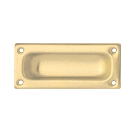 Flush Pull Handle 90mm - Brass - (MI79P)