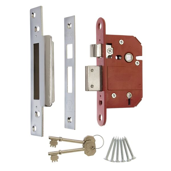 ERA Viscount 5-Lever Sashlock 75mm - Chrome - (302-62)