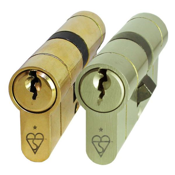 Sterling 6 Pin Euro Cylinder - Anti Snap - 40 x 50 - Brass