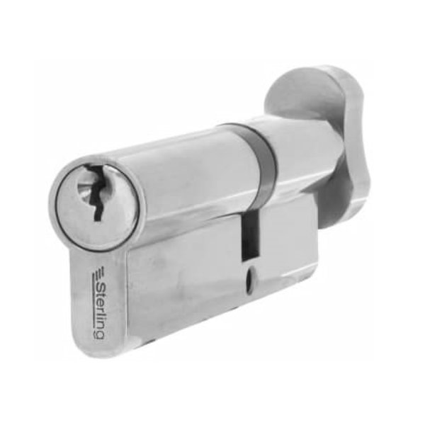 Anti Snap Euro Cylinder - Thumb Turn - 35 x 35 - Satin Nickel (BS1*)