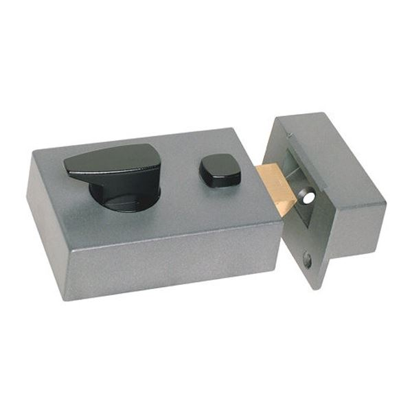Sterling Deadlocking Nightlatch - Narrow - Grey