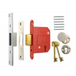 ERA Deadlock 75mm - 5 Lever British Standard - Chrome - (361-62)