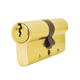 Anti Snap Euro Cylinder - 6 Pin Lock - 40 x 50 - Brass