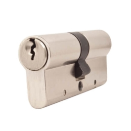 Anti Snap Euro Cylinder - 6 Pin Lock - 45 x 45 - Satin Nickel