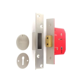 Deadlock 75mm - 3 Lever - Brass Plated - (MLD330)