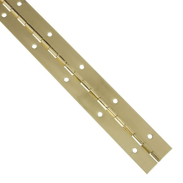 Piano Hinge 6Ft - Brass / Chrome