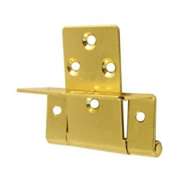 Single Cranked Hinges 50mm - Brass - (Pack of 2) - (002525N)
