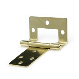 Flush Hinges 75mm - Brass Plated - (Pack of 2) - (002433N)