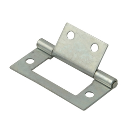 Flush Hinges 60mm - Zinc Plated - (Pack of 2) - (014351N)