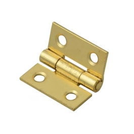 Light Hinges 13mm - Brass Plated - (Pack of 2) - (002457N)
