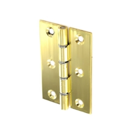 Solid Drawn Butt Hinges 75mm - Brass Plated - (Pack of 2) - (002501N)