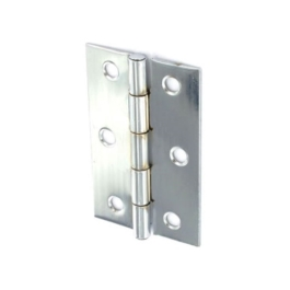 Steel Butt Hinges 100mm - Chrome Plated - (Pack of 2) - (044020N)