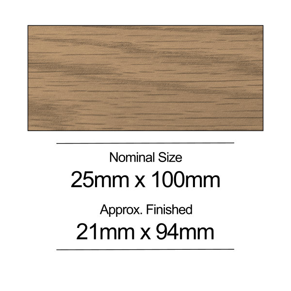 American Oak PSE - 25mm x 100mm