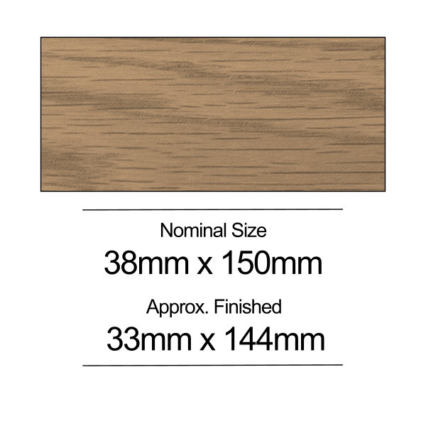 American Oak PSE - 38mm x 150mm