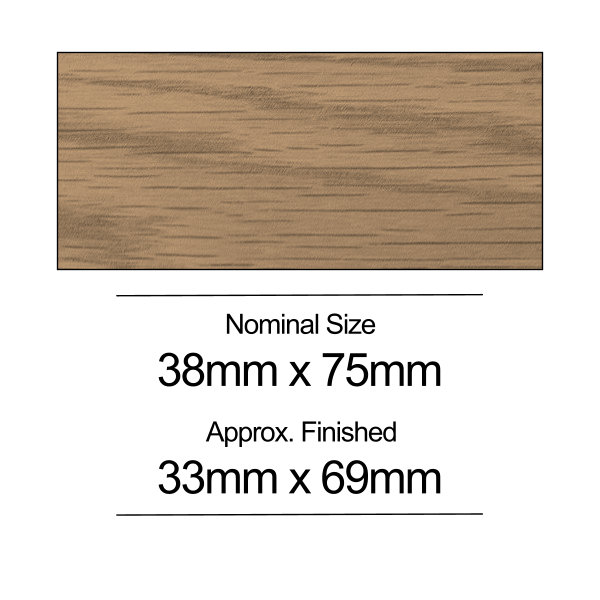 American Oak PSE - 38mm x 75mm