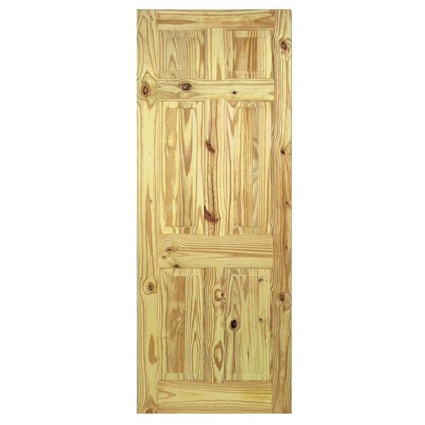 Pine Knotty 6-Panel Door - All Sizes