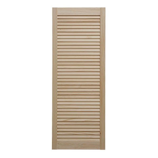 Louvre Door - Clear Pine - 1524mm High x 610mm Wide