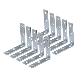 Corner Braces 25mm - Zinc Plated - (Pack of 10) - (015877N)