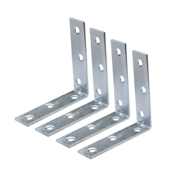 Corner Braces 100mm - Zinc Plated - (Pack of 4) - (040923N)