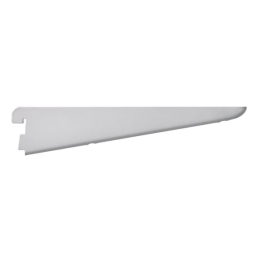 Twin Slot Shelving Bracket - White - 120mm