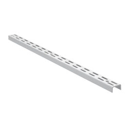 Twin Slot Shelving Upright - White - 1220mm