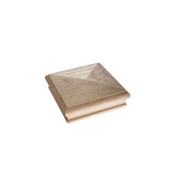 Oak Flat Square Newel Cap - 125mm