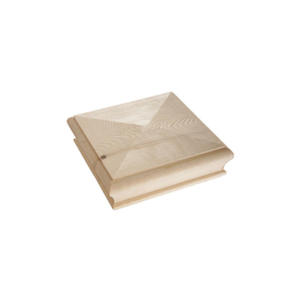 Pine Flat Square Newel Cap - 125mm