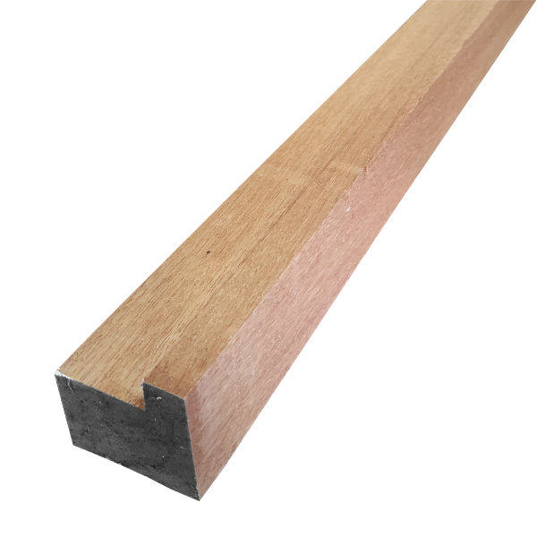 Red Hardwood Sash - Single Rebate - 63mm x 63mm - Per Metre