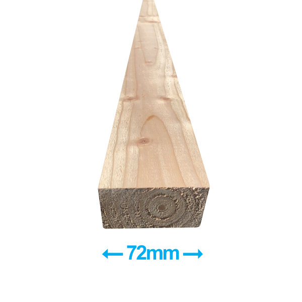 Sawn Softwood - C16 Eased Edge - 50mm x 75mm x 3.0Mt