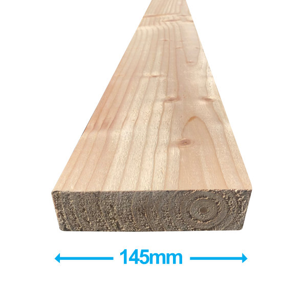 Sawn Softwood - C16 Eased Edge - 50mm x 150mm x 4.8Mt