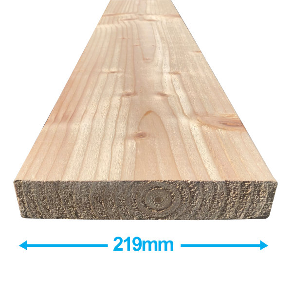 Sawn Softwood - C16 Eased Edge - 50mm x 225mm x 4.2Mt