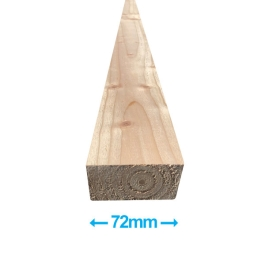 Sawn Softwood - C16 Eased Edge - 50mm x 75mm x 3.6Mt