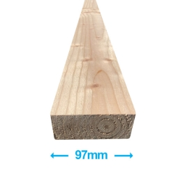 Sawn Softwood - C16 Eased Edge - 50mm x 100mm x 3.0Mt