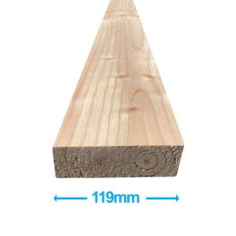 Sawn Softwood - C16 Eased Edge - 50mm x 125mm x 3.0Mt