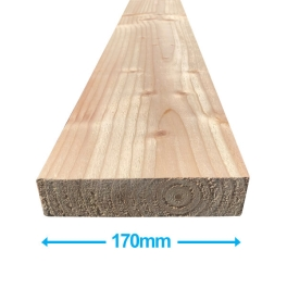 Sawn Softwood - C16 Eased Edge - 50mm x 175mm x 3.6Mt