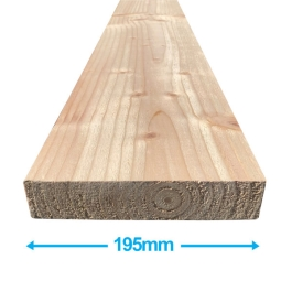 Sawn Softwood - C16 Eased Edge - 50mm x 200mm x 3.6Mt