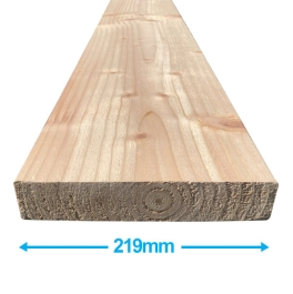 Sawn Softwood - C16 Eased Edge - 50mm x 225mm x 4.8Mt