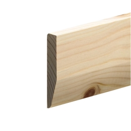 Softwood Pencil Round / Chamfered Skirting - 19mm x 100mm - Per Metre