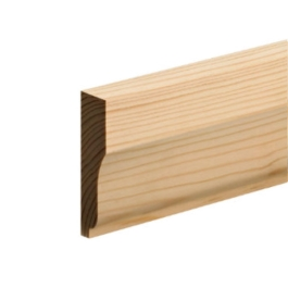 Softwood Ovolo Skirting - 25mm x 75mm - Per Metre
