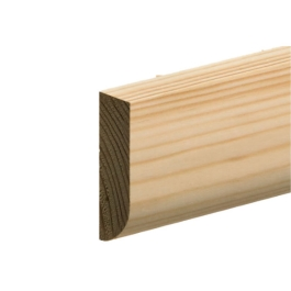 Softwood Pencil Rounded Skirting - 19mm x 50mm - Per Metre